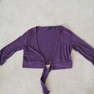 Zara purple crop volero